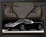 2004 Ferrari Enzo Black Car Art Print Poster Print