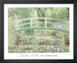 Claude Monet (Japanese Bridge at Giverny) Art Print Poster Prints