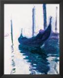 Monet - Gondolas Art by Claude Monet
