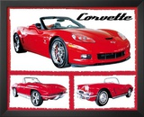 Chevy Corvettes (Fabulous) Art Poster Print Art