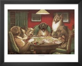 C.M. Coolidge Waterloo Dogs Playing Poker Art Print Poster Posters