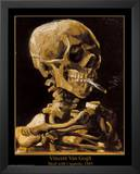 Vincent Van Gogh (Skull with Cigarette, 1885) Art Print Poster Prints