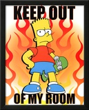 The Simpsons Keep Out Of My Room Bart Simpson TV Poster Print Posters