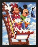 Mickey Mouse and Friends Rollercoaster Print