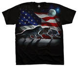 Wolf Run Flag T-skjorter
