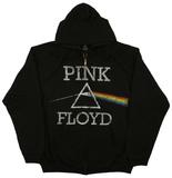 Zip Hoodie: Pink Floyd - Dark Side Classic Hættetrøje med lynlås