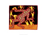 Untitled, 1983 Giclée-tryk af Keith Haring