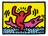 Pop Shop (Dolphin Rider) Posters by Keith Haring