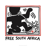 Free South Africa, 1985 Reproduction procédé giclée par Keith Haring