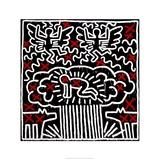 Keith Haring - Untitled, 1983 Digitálně vytištěná reprodukce