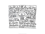 The Blueprint Drawings, 1990 Lmina gicle por Keith Haring