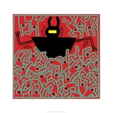 Untitled 1983 Lmina gicle por Keith Haring