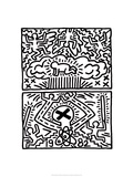 Poster for Nuclear Disarmament Lmina gicle por Keith Haring