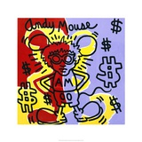 Andy Mouse 1985 Reproduction procédé giclée par Keith Haring