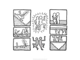 The Blueprint Drawings, 1990 Gicl&#233;e-Druck von Keith Haring