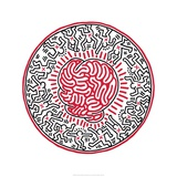 Sans titre, 1985 Reproduction proc&#233;d&#233; gicl&#233;e par Keith Haring