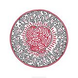 Keith Haring - Beze jména, 1985 Digitálně vytištěná reprodukce