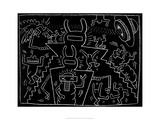 Sans titre Reproduction proc&#233;d&#233; gicl&#233;e par Keith Haring