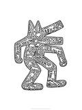 Hund, 1985 Giclée-tryk af Keith Haring