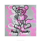 Keith Haring - Andy Mouse 1985 Digitálně vytištěná reprodukce