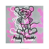 Keith Haring - Andy Mouse 1985 - Giclee Baskı