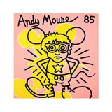 Andy Mouse 1985 Lmina gicle por Keith Haring