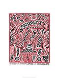 Fun Gallery Exhibition, 1983 Giclée-trykk av Keith Haring