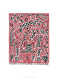 Fun Gallery Exhibition, 1983 Gicléetryck av Keith Haring