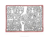 Keith Haring - The Marriage of Heaven and Hell, 1984 Digitálně vytištěná reprodukce