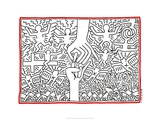 The Marriage of Heaven and Hell, 1984 Gicléedruk van Keith Haring