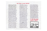 The Chunk Called Poetry Giclée-tryk af Keith Haring