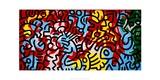 Utan titel Gicléetryck av Keith Haring