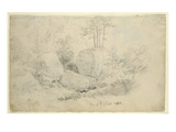 Boulders in Woodland, 1800 (Pencil on Paper) Giclee Print by Caspar David Friedrich