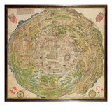 Circular Map of Vienna During the Turkish Siege, 1530 Giclee Print