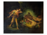 The Fire King Appears to Count Albert, c.1801-10 Giclee Print by Henry Fuseli
