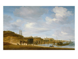 The Beach at Egmond-An-Zee Giclee Print by Salomon van Ruisdael or Ruysdael