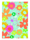 Mixed Flowers Giclee Print by Louisa Knight