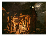 The Iron Forge Viewed from Without, c.1770S Giclee Print by Joseph Wright Of Derby