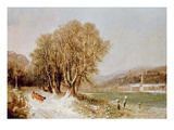 On the River Neckar, Heidelberg Giclee Print by Joseph Paul Pettit
