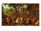 A Village Fair Premium Giclee Print by David Vinckboons