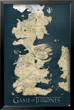 Game of Thrones-Map Affiche