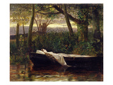 The Lady of Shalott, 1862 Premium Giclee Print by Walter Crane