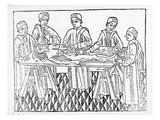 An Anatomy Lesson, 1482 (Woodcut) (B/W Photo) Giclee Print by  French