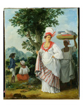 West Indian Creole Woman with Her Black Servant, c.1780 Giclee Print by Agostino Brunias