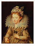 Portrait of Eleonora De Gonzaga Mantua (1598-1655) as a Child Giclee Print by Frans II Pourbus