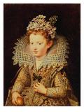 Portrait of Eleonora De Gonzaga Mantua (1598-1655) as a Child Premium Giclee Print by Frans II Pourbus