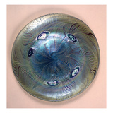 Tiffany Favrile Plate, New York, 1902 (Glass) Giclee Print by Louis Comfort Tiffany