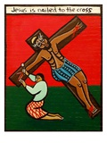 Jesus Is Nailed To The Cross, 2006 Giclee Print by Laura James