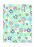 Overlayer Flowers Giclee Print by Louisa Knight