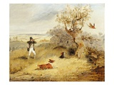 Pheasant Shooting (Oil on Canvas) Reproduction procédé giclée par Henry Thomas Alken